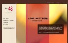 Hotel 43 Website