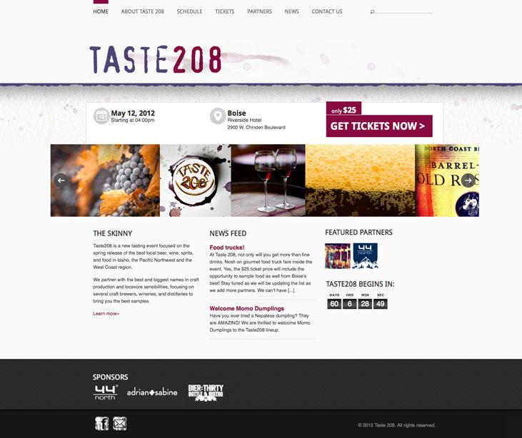 Taste 208 Website